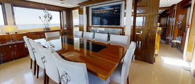 Sunseeker 30 Metre Yacht - Dining - Tuppence
