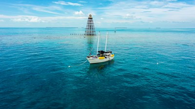 Conch Pearl moored at Sand Key