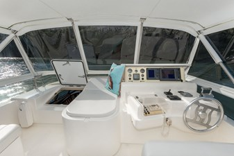 Helm, Lounge Seat and Pilothouse Access