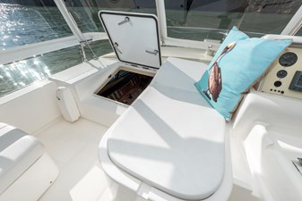 Conversational Seating at Helm and Fwd Access to Pilothouse
