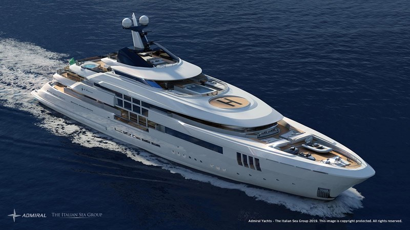 Admiral 65m U Force yacht for sale