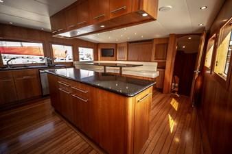 2003 100' Hatteras Motor Yacht Galley
