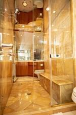 2003 100' Hatteras Motor Yacht Master Shower