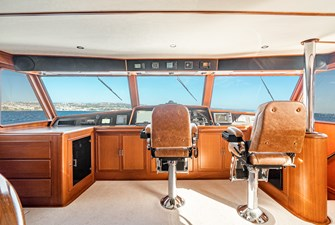Dual Helm Chairs in Pilothouse