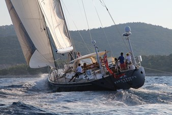 Fifty Fifty yacht at sea