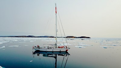 Plum sailing yacht