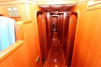 Plum yacht corridor