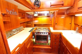Plum yacht galley