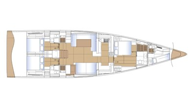 One Shot yacht layout