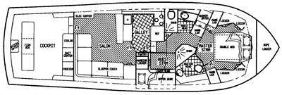 Viking 45C Two-Stateroom Layout