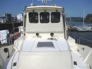 Foredeck aft to Pilothouse