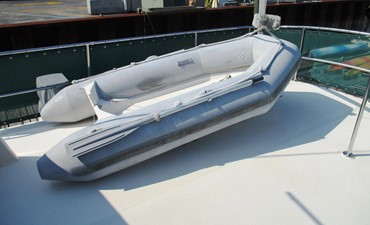 Dinghy & davit, boat deck, starboard side