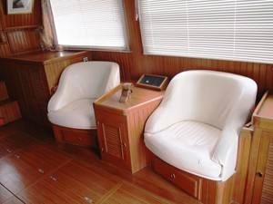 Salon chairs, starboard side