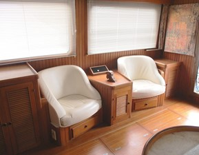Salon chairs & storage, starboard side aft