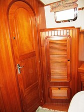 Master Cabin storage & Head entrance, port side aft