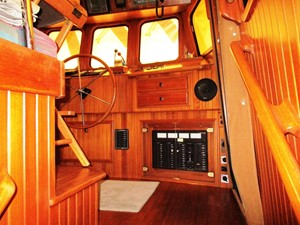 Pilothouse entrance, starboard side stairs from Salon