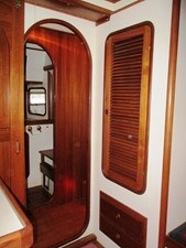 Hanging locker & Guest Head across passageway to starboard