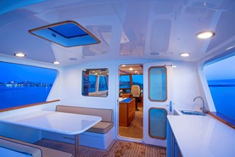 Seating Area And Wet Bar Aft Of Pilot House