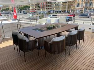 ANYA 28 Upper Deck Dining Area