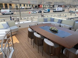 ANYA 30 Upper Deck Dining Area
