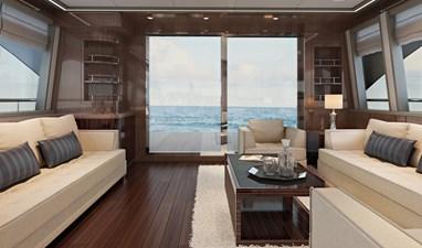 PUCCINI 78 6 Lounge facing stern