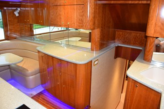 Galley aft and down to staterooms