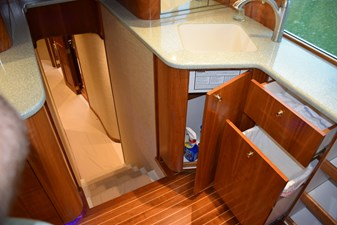 Galley storage and top of companionway