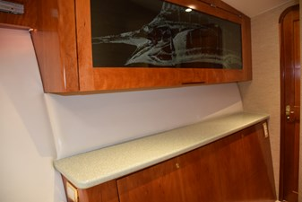 Fwd stateroom tackle storage cabinet
