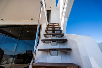 Stairs to the Helm Aft Deck