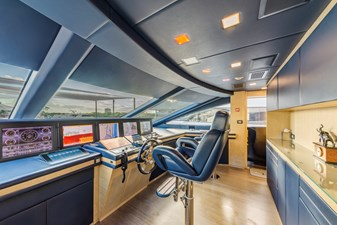 Benetti Veloce 140 Pilot house with Captain quarters close by