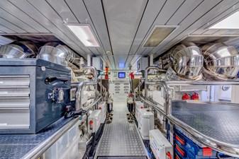 Benetti Veloce 140 Engine Room