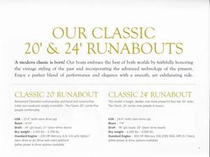 Cherubini 20 and 24 Runabout Specs