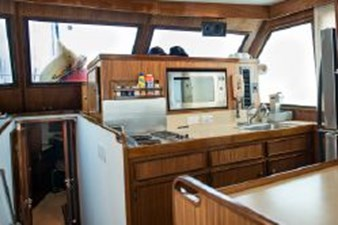 Galley sinks, stovetop and microwave