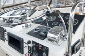 Helm showing bow thruster control