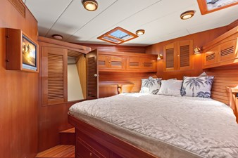 Mermaid 36 guest stateroom with cabinets