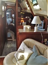 LOOKING AFT INTO MASTER CABIN