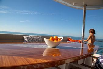 Aft deck teak table
