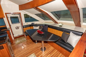 Galley dining and side deck door