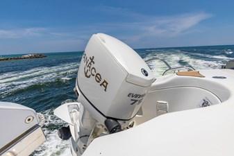 15' RIB 75HP outboard