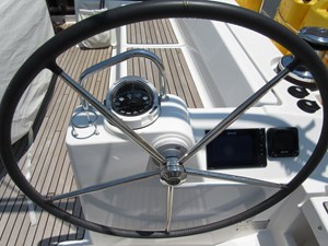 Starboard helm and instruments