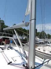 Mast base, boom and inmast furling mainsail