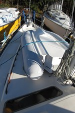 Foredeck with dinghy