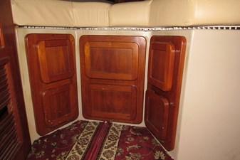 Storage below forward bunk