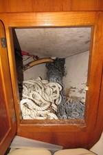 Access to anchor locker from forward cabin