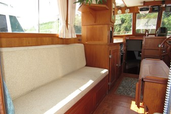 Port settee & galley