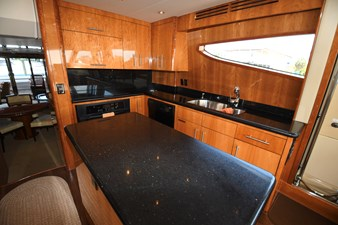 2008 80 Hatteras Motor Yacht  Galley