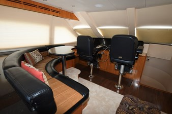 2008 80 Hatteras Motor Yacht  Enclosed Bridge