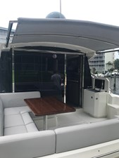 aft deck with sunshade