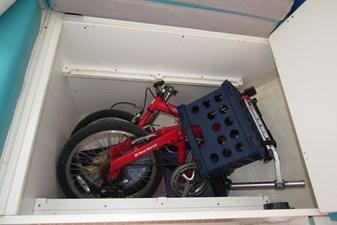 Storage under forward berth