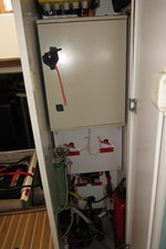 Electrical cabinet in forward vestibule
